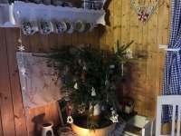 Vánoční zátiší v jídelně - chata ubytování Lašovice