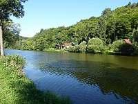 řeka před chatou - Sázava
