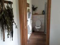 Koupelna - chalupa ubytování Milešov