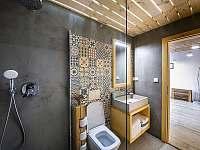 koupelna v novém stavení - pronájem chalupy Hojšín
