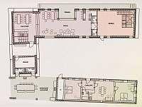plánek přízemí nového stavení - Hojšín