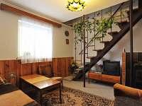 Novější chalupa - obývací pokoj