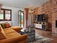 Obývací část - chata ubytování Slapy - Lahoz