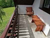 Balkon - pronájem chaty Vlková