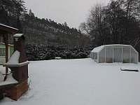 chata v zimě - Kostelní Střimelice