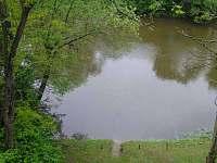 Řeka přímo u objektu - pronájem chaty Čížov