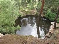 Blízké zatopené lomy ke koupání u Nečína