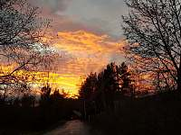Západ slunce na Živohošti - chata k pronájmu Nová Živohošť