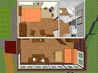 3D plánek chaty - Velké Popovice