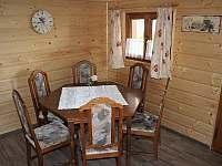 jídelna - chata ubytování Lipno - Hůrka