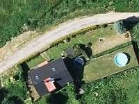 Chalupa pod Sedlem - letecký snímek