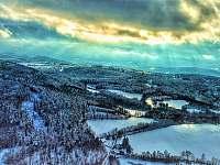 Šumava v zimě - pohled ze Sedla 1. - chalupa k pronajmutí Albrechtice u Sušice