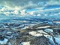 Šumava v zimě - pohled ze Sedla 2. - Albrechtice u Sušice