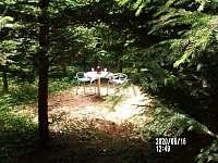 posezení v privátním lesíku - Nuzerov