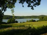 Hnačovský rybník,okolo rybníka vede naučná stezka - chata ubytování Hnačov