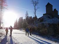 zimní procházka na hrad Kašperk - Podmokly u Sušice