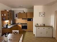 Kuchyňská část - apartmán k pronájmu Lipno nad Vltavou
