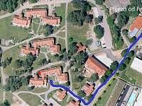 Příjezd k apartmánu - Lipno nad Vltavou