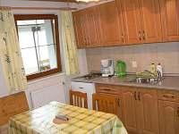 Kuchyně zeleného apartmánu