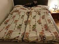 Ložnice s manželskou postelí - apartmán k pronájmu Zelená Lhota
