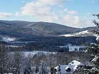 Zimní pohled na krajinu - Zelená Lhota