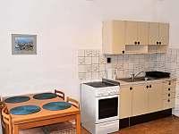 kuchyně - chalupa ubytování Podmokly