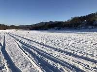 Pohled na kopec Věnec při běžkování - pronájem chaty Lčovice