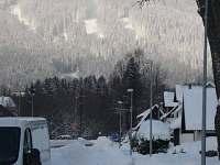 Zima na Špičáku - chalupa ubytování Železná Ruda - Špičák