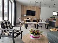 obývací část - apartmán k pronájmu Nová Pec