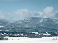Pláž - zimní pohled na Smrčinu/Hochficht - Horní Planá - Hory