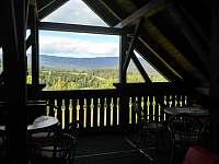 Výhled z terasy - Zelená Lhota