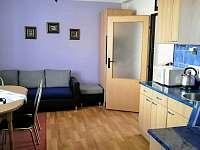 Kuchyně s gaučem pro 1os. - pronájem apartmánu Horní Planá