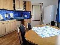 Kuchyně s lednicí a vybavenou kuchyňskou linkou - apartmán k pronajmutí Horní Planá
