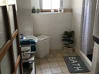 Koupelna se sprchovým koutem - chalupa k pronajmutí Milejovice