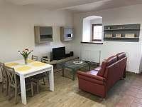 Obývací kout apartmán 2 - chalupa k pronajmutí Milejovice