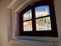 Výhled z apartmánu ve Vimperku - ubytování Vimperk
