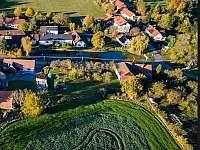 pohled z dronu - Hliněný Újezd