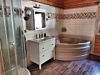 Spodní koupelna - pronájem srubu Mochtín - Srbice