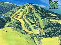 mapa cyklotras na Špičáku - Hojsova Stráž - Brčálník