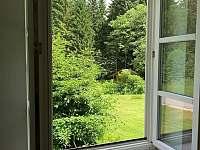 Apartmán 1 - výhled z okna - ubytování Schöneben