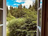 Apartmán 1 - výhled z okna - k pronajmutí Schöneben