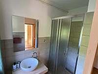 Koupelna se sprchovým koutem - chalupa ubytování Frymburk