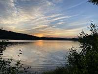 Lipenské jezero při západu slunce - Frymburk
