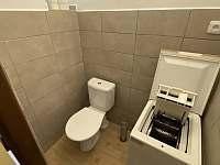 Toaleta s pračkou - chalupa k pronajmutí Frymburk