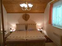 Apartmán v patře - ložnice - chata k pronajmutí Lipno nad Vltavou - Kobylnice