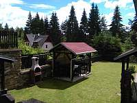 Venkovní pergola s grilem - chata ubytování Lipno nad Vltavou - Kobylnice