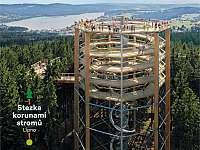 stezka korunami stromů - apartmán k pronájmu Lipno nad Vltavou