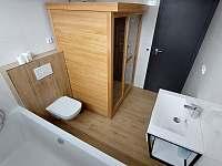Koupelna s infra saunou v C1 - Nová Pec