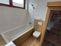 Koupelna s infrasaunou a toaletou v C1 - pronájem apartmánu Nová Pec