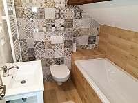 Koupelna u ložnice - apartmán I - pronájem Rožmberk nad Vltavou
